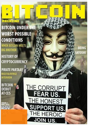 Bitcoin Mag Cover - Anonymous